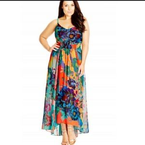 Like new city chic floral maxi Dress